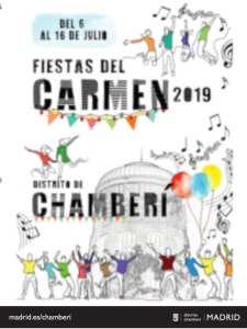 Fiestas del Carmen 2019 | Chamberí | Madrid | 06-16/07/2019 | Cartel