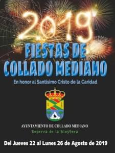 Fiestas de Collado Mediano 2019 | 22-26/08/2019 | Collado Mediano | Comunidad de Madrid | Cartel