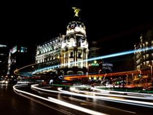 Tu primera vez en Madrid | Vista nocturna de Alcalá y Gran Vía | Madrid | Foto Carlos Zurita