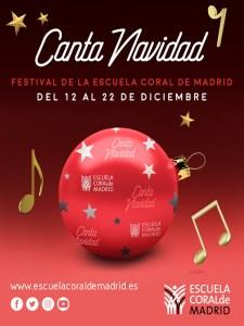 Canta Navidad 2019   Festival de la Sociedad Coral de Madrid   12-22/12/2019   Madrid y Rivas-Vaciamadrid   Cartel