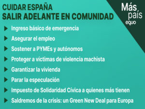 Cuidar España: medidas para salir adelante en comunidad | Más País-Equo