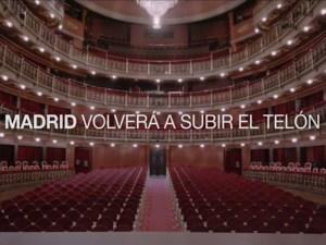 Madrid volverá a subir el telón   Lema teatros municipales de Madrid   Día Mundial del Teatro 2020