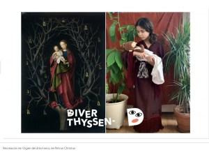 DiverThyssen | Concurso infantil | 22/05-22/06/2020 | Museo Nacional Thyssen-Bornemisza | Madrid | Recreación de 'Virgen del árbol seco'
