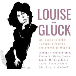Homenaje a Louise Glück | 15/10/2020 | Tapas y Fotos | Lavapiés | Madrid | Cartel