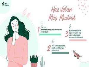 ¡Haz volar Más Madrid! | Campaña de microcréditos