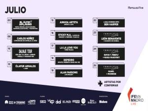 Ifema Madrid Live | Julio 2021 | La Explanada de Ifema Madrid | Conciertos