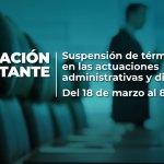 Supersociedades suspende términos en actuaciones administrativas y disciplinarias.