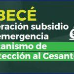 ABECÉ Operación subsidio de emergencia.- Mecanismo de Protección al Cesante.