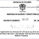 Se reglamentan los articulos 53 a 660 de la ley 2010 de 2019 y se sustituye el titulo 7 de la parte 5 del libro 1 del decreto 1625 de 2016 , Único Reglamentario en Materia Tributaria.