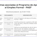 PROGRAMA DE APOYO AL EMPLEO FORMAL – PAEF-