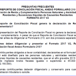 Reporte Conciliación Fiscal Naturales Año gravable 2019.
