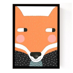 Affiche Renard, Seventy Tree — Orange Citrouille, Ponio