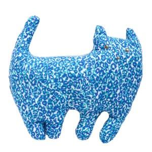 Coussin Chat, Pretty Bazar — Bleu Roi, Ponio