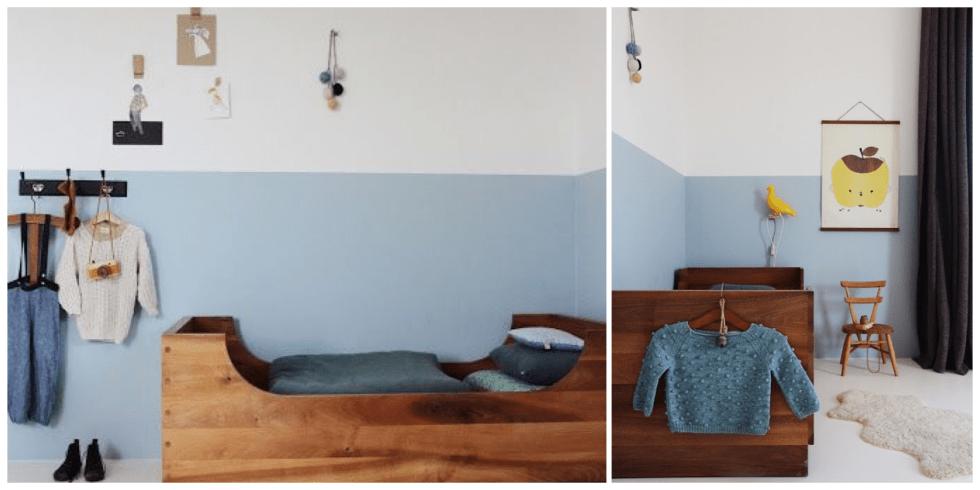 Chambre d'enfant, Bleu Nordique