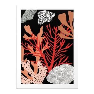 Affiche, Florent Manelli — Orange Corail, Ponio