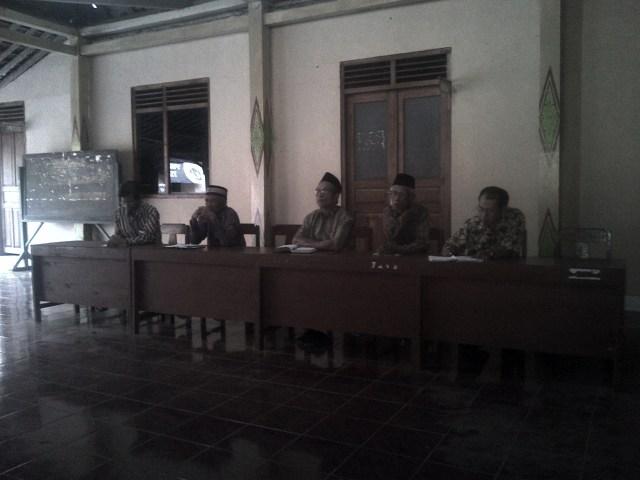 Suasana Rapat BKM Desa Ponjong