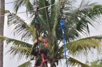 Flying Fox di Gebyar Seni dan Budaya Desa Wisata Ponjong 2012