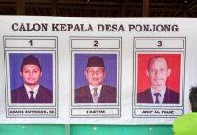3 Calon Kepala Desa Ponjong 2015