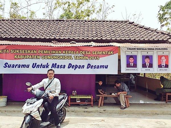 Arif Nurdiyanto Panitia Desa tinjauan di Dusun Ponjong