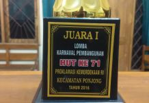 Juara Umum Karnaval Pembangunan 2016