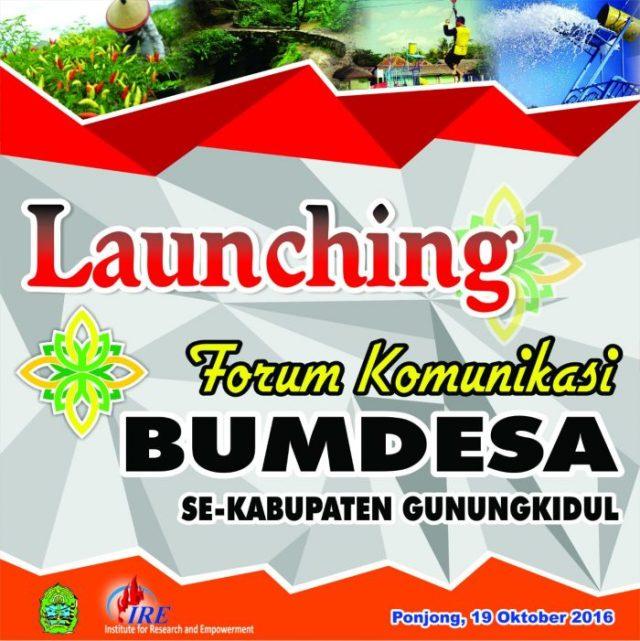 Launching Forkom Bumdesa Se-Gunungkidul