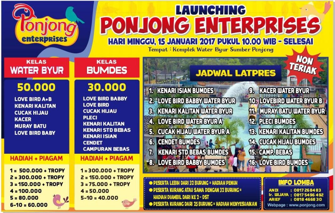 Launching Ponjong Enterprises