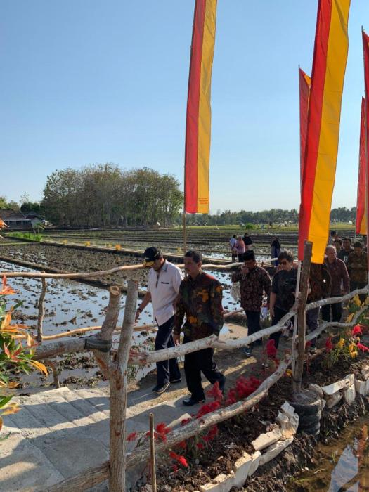Sri Sultan Hamengku Buwono X di Desa Ponjong