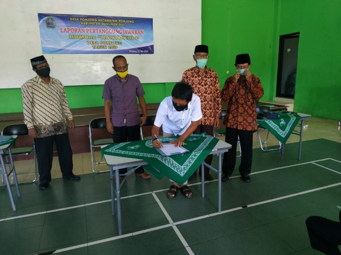Pengesahan LPJ BUMDes Hanyukupi Tahun 2019