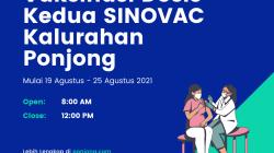 Vaksinasi Dosis Kedua SINOVAC Kalurahan Ponjong