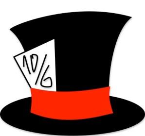 Disfraces recortables Alicia, sombrero