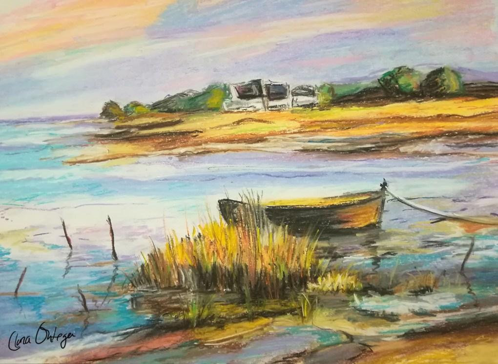 Pintura pastel marina Clara Ortega Klartkraft