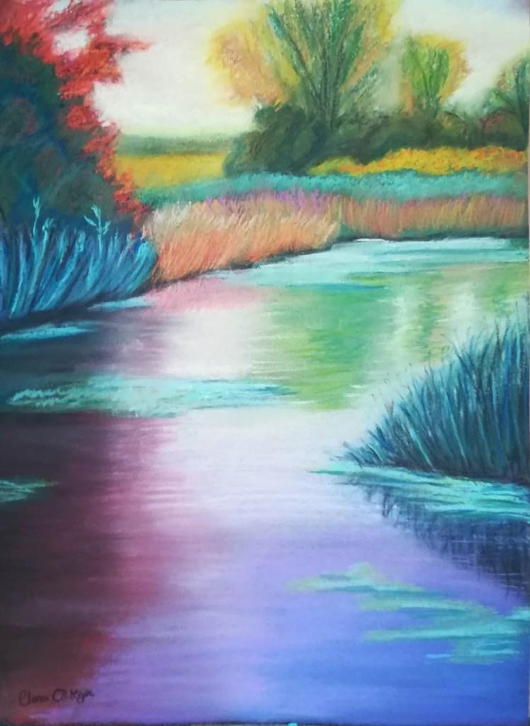 Orilla de rio inspiración de Adriana Meiss- Clara Ortega