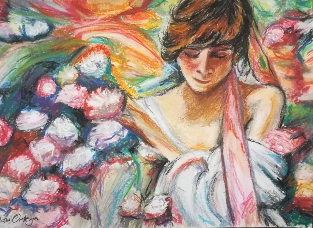 Muchacha con flores. Ponle arte