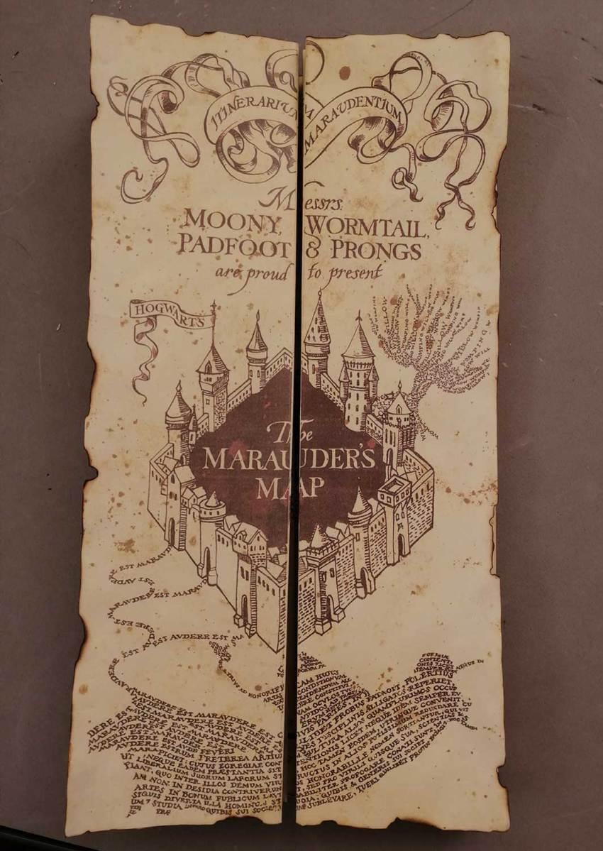 Mapa del merodeador. Fiesta de Harry Potter. Ponle arte.
