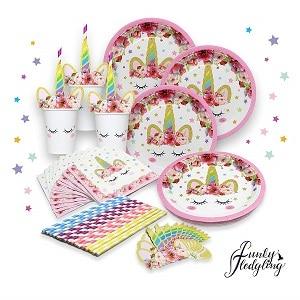 יום הולדת חד קרן מיתוג שולחן