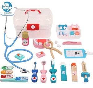 צעצוע רופא וחולה מעץ לפעוטות