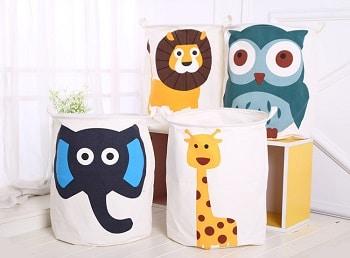 סל אחסון גדול לצעצועים הדפסי חיות
