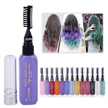 ערכת צבעים זמניים לשיער מתנה לבת 11