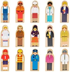 דמויות מעץ לפעוטות משחק