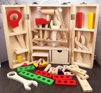 ערכת כלי עבודה מעץ משחק לילדים