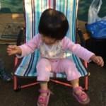 ロゴス あぐらチェアの座り心地が良すぎて娘に占領されてしまった!