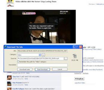 cara download video facebook dengan idm