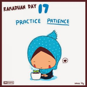 dp bbm ramadhan muslimah lucu hari ke-17
