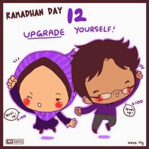 dp bbm ramadhan muslimah lucu hari ke-12