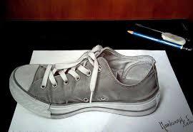 gambar 3d sepatu keren