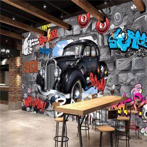 gambar grafiti 3d mobil