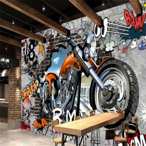 grafiti 3d harley davidson