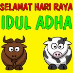 animasi bergerak kambing kurban