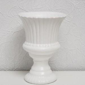 Vaso taça Real em Cerâmica Branco