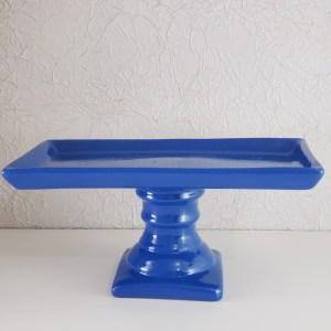 Suporte para doces cerâmica retangular cor Azul Bic